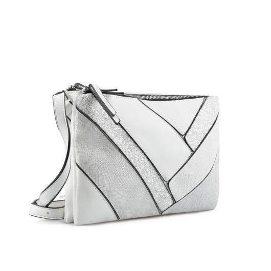 Бяла дамска ежедневна чанта Malia