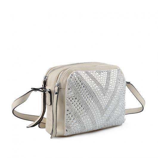 Бежова дамска ежедневна чанта Devonne