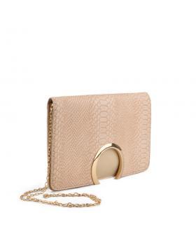 Бежова дамска елегантна чанта Alyssa в online магазин Fashionzona