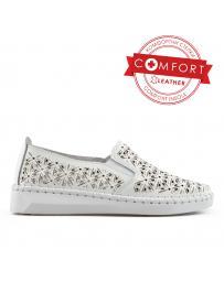 Бели дамски ежедневни обувки 0136428 Leela