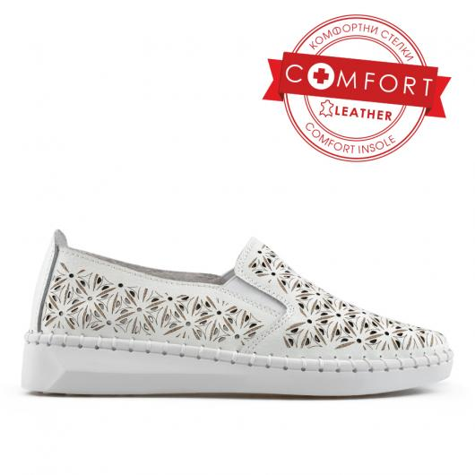 Бели дамски ежедневни обувки Leela