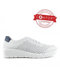 Бели дамски ежедневни обувки Kurtney