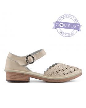 Бежови дамски ежедневни сандали Sayda в online магазин Fashionzona