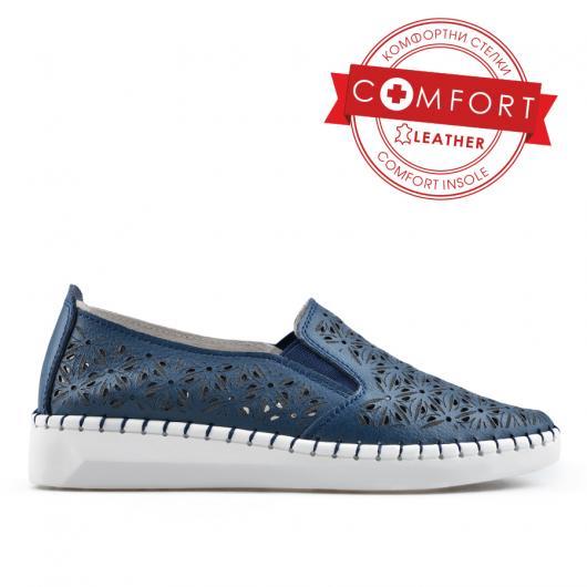 Сини дамски ежедневни обувки Joana