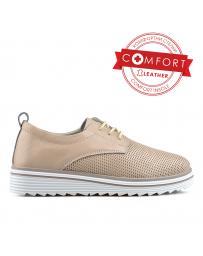 Бежови дамски ежедневни обувки 0136469 Zanita