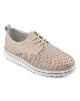 Бежови дамски ежедневни обувки Zanita в online магазин Fashionzona