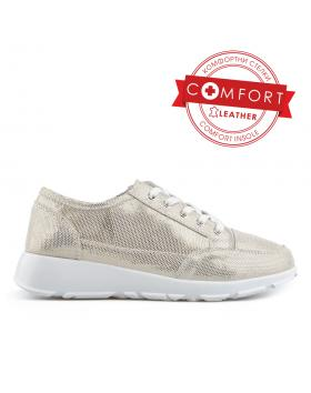 Златисти дамски ежедневни обувки Cherrie в online магазин Fashionzona
