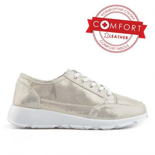 Златисти дамски ежедневни обувки Cherrie