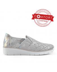 Сиви дамски ежедневни обувки 0136485 Lindie