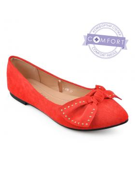 Червени дамски ежедневни обувки Ranelle в online магазин Fashionzona