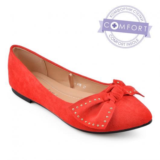 Червени дамски ежедневни обувки Ranelle