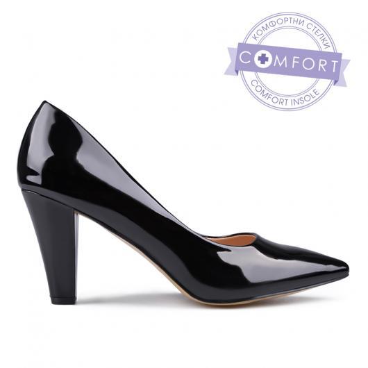 Черни дамски елегантни обувки Estelle