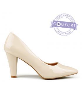 Бежови дамски елегантни обувки Yabell в online магазин Fashionzona
