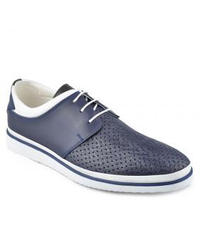 Сини мъжки ежедневни обувки Faro в online магазин Fashionzona