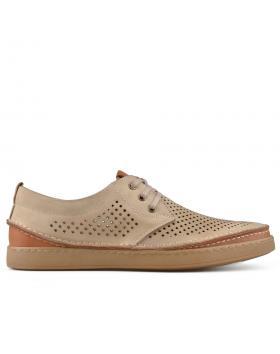 Бежови мъжки ежедневни обувки Eron в online магазин Fashionzona