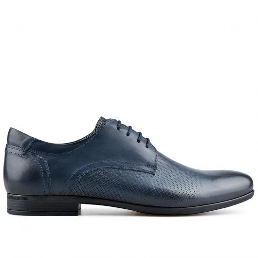 Сини мъжки елегантни обувки Emilio