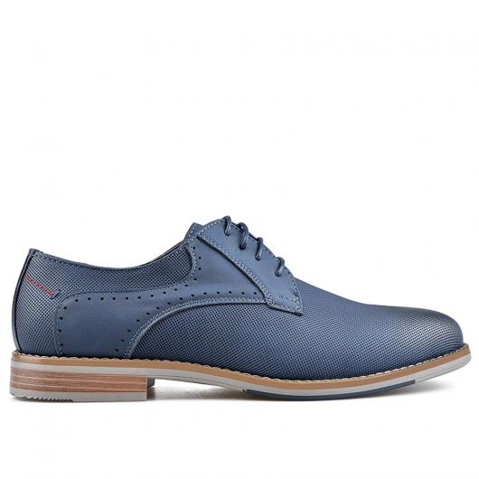 Сини мъжки елегантни обувки Allonzo