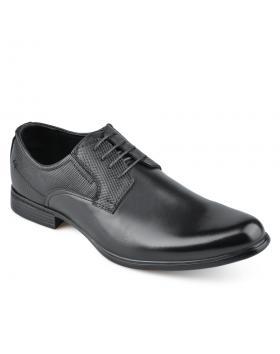 Черни мъжки елегантни обувки Plasedo в online магазин Fashionzona