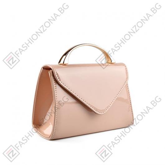 Бежова дамска елегантна чанта Jenavieve
