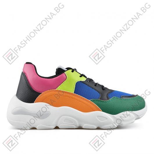 44f0bbd3cdc Цветни дамски ежедневни обувки Bansari ⋙ на цена 27,22 лв — Fashionzona