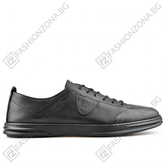 Черни мъжки ежедневни обувки Isaias