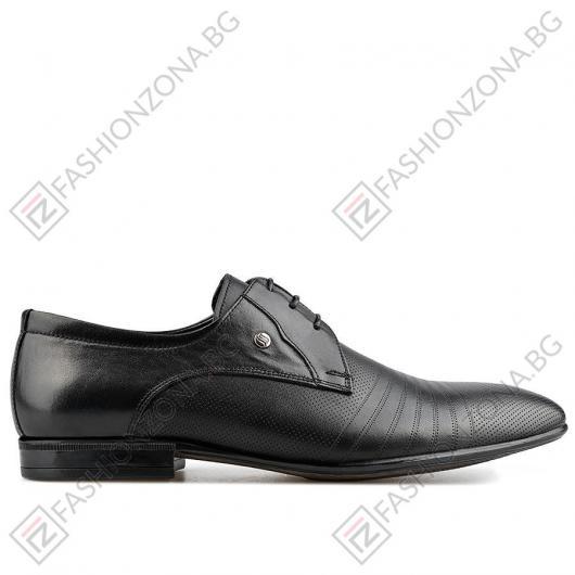 Черни мъжки елегантни обувки Lonza