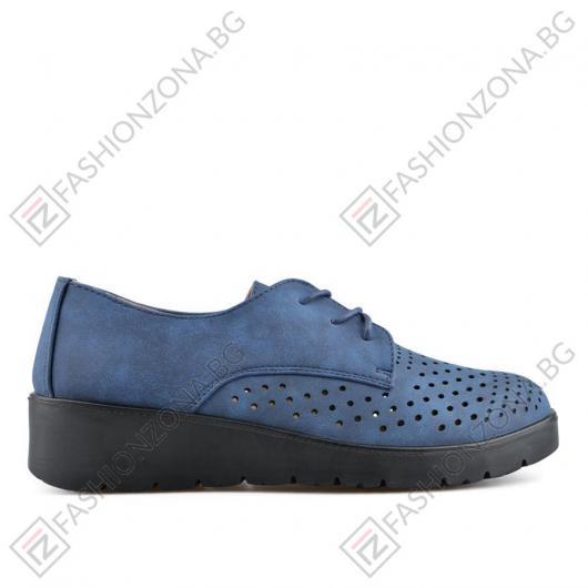 Сини дамски ежедневни обувки Alivia