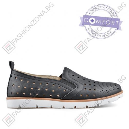 Черни дамски ежедневни обувки Demee