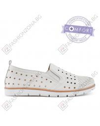 Бели дамски ежедневни обувки 0136632 Agnola
