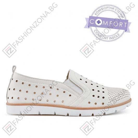Бели дамски ежедневни обувки Agnola