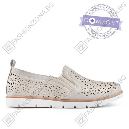 Бежови дамски ежедневни обувки Ginny