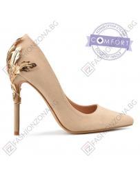 Бежови дамски елегантни обувки 0137484 Michela