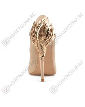 Бежови дамски елегантни обувки Michela в online магазин Fashionzona
