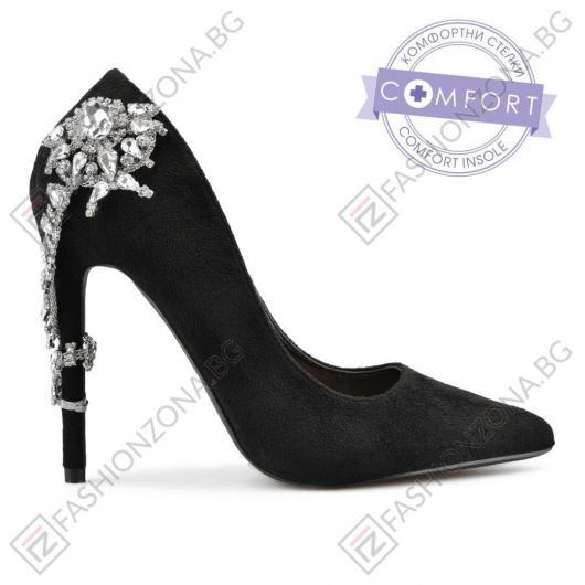 Черни дамски елегантни обувки Dolly