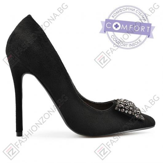 Черни дамски елегантни обувки Sherryse