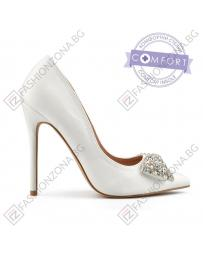Бели дамски елегантни обувки Estee