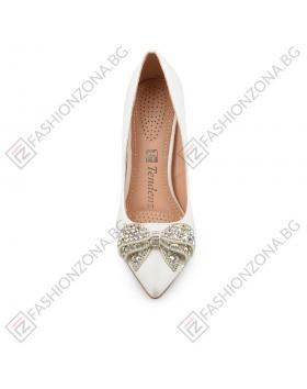 Бели дамски елегантни обувки Estee в online магазин Fashionzona
