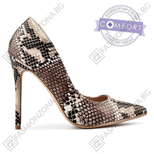 Кафяви дамски елегантни обувки Kinley