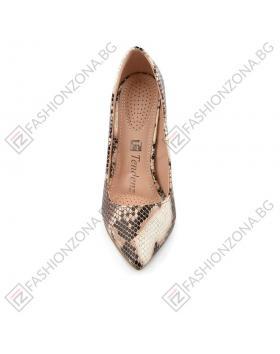 Кафяви дамски елегантни обувки Kinley в online магазин Fashionzona