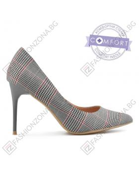 Сиви дамски елегантни обувки Fabritzia в online магазин Fashionzona