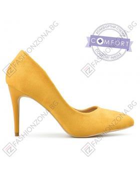 Жълти дамски елегантни обувки Joyanna в online магазин Fashionzona