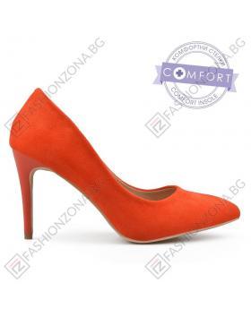 Оранжеви дамски елегантни обувки Ornette в online магазин Fashionzona