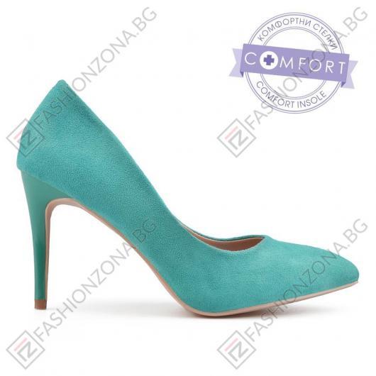 Сини дамски елегантни обувки Aileen
