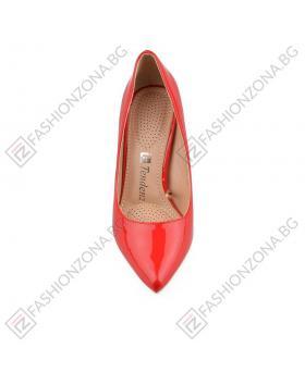Червени дамски елегантни обувки Lolaksi в online магазин Fashionzona