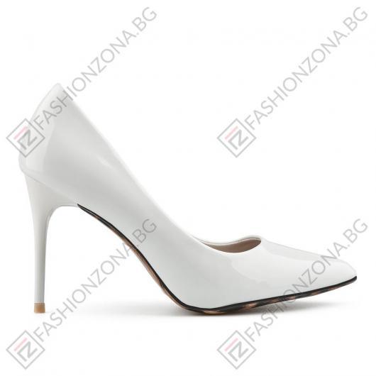 Бели дамски елегантни обувки Alfredo