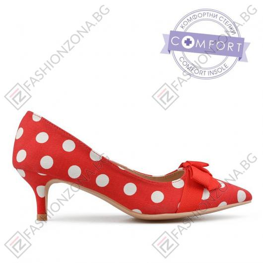 Червени дамски елегантни обувки Kyne
