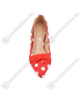 Червени дамски елегантни обувки Kyne в online магазин Fashionzona