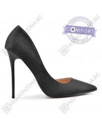 Черни дамски елегантни обувки Hala