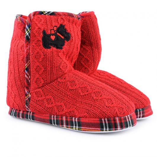 Червени дамски пантофи Parnika
