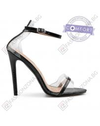 Черни дамски елегантни сандали Romayne в online магазин Fashionzona